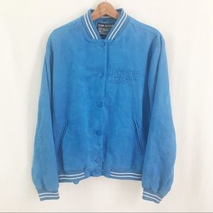 Dope Couture Faux Suede Bomber Jacket